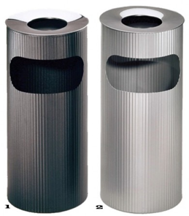 Fluted ashtray litter bins