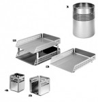 accessories Square perforated desk set